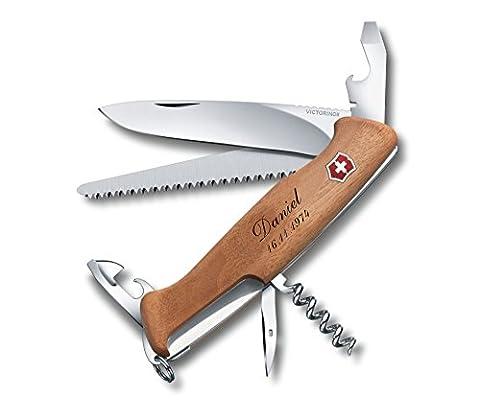 Taschenmesser Victorinox RangerWood 55 Nussbaum Inkl. Gravur Wunschtext