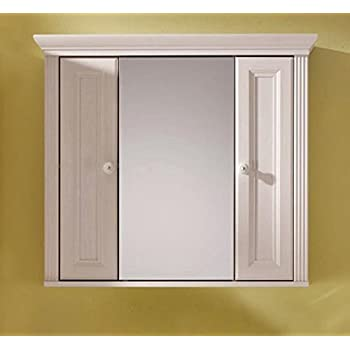 Spiegelschrank bad landhaus  Badschrank JASMIN Spiegelschrank mit 2 Türen, Landhaus Lärche weiß ...