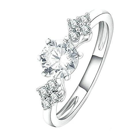 Gnzoe Schmuck Damen Vergoldet Verlobungsringe Damenringe Silber Cz Zirkonia Ringe