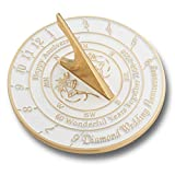 The Metal Foundry 60th Diamond Wedding Anniversary Sundial Gift Idea Is A Great Present For Him, For Her Or For A Couple To Celebrate 60 Years Of Marriage