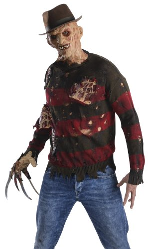 Freddy Halloween (Freddy Krueger Pullover mit Latexwunden,)