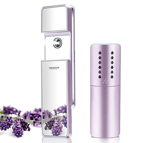 rüher Nano Ionic Gesicht Dampfer Kühl Nebel Luftbefeuchter Gesichtserfrischer Hautpflege Anti-Mitesser, Akne und Sinus USB Wiederaufladbar mit Spiegel - Violett ()