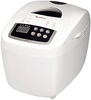 MOULINEX OW1101 - máquina de pan - Hasta 900 gr - 12 programas - Pantalla LCD - Blanco