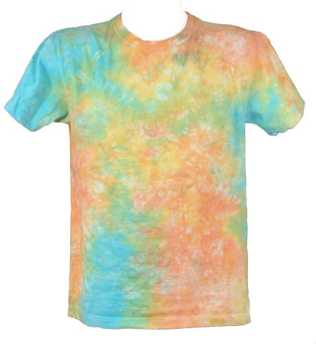 Tie Dye Acid House Scrunch T-Shirt for Men - S to 5XL