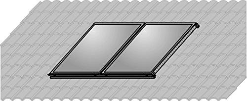 Wolf Aufdach-Montageset Alu+ Falz-Ziegel für 2 Kollektoren F3-1/CFK-1 Hochformat # 2484130