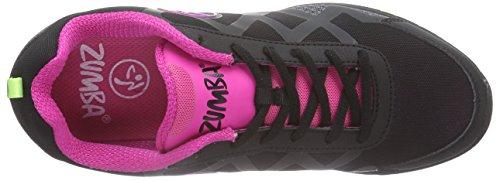 Zumba Footwear Flex II Remix Damen Hallenschuhe Schwarz (Black/Black)