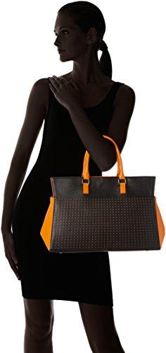 Madame Folie - Trapèze, Borsa a spalla Unisex - Adulto Black / Orange