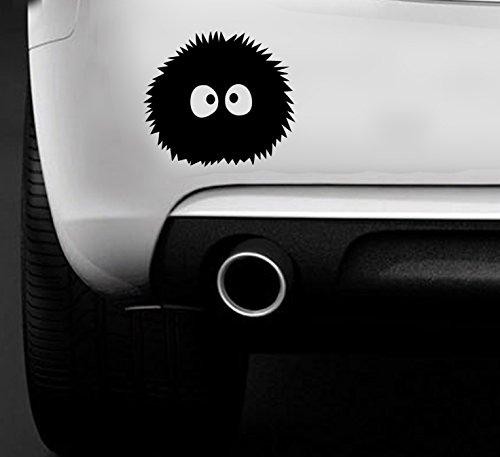 Totoro Ghibli Laputa Spirited Away fensterssticker, Staub Bunny Anime JDM Auto Van Aufkleber Auto Boot Fenster vinyl Aufkleber (Trim Bunny)