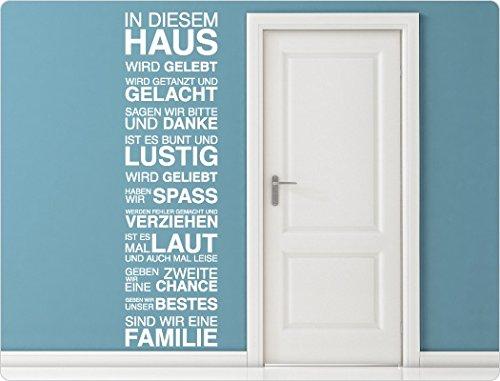 """I-love-Wandtattoo 11567 Wandtattoo Spruch \""""In diesem Haus wird gelebt ...\"""""""