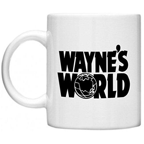 Waynes World, Retro Movie, Garth, Waynes World Logo GPO Group Exclsuive Design, Waynes World Tasse, Film Memorabilia Geschenke, Mikrowelle Spülmaschinenfest 313ml Tasse