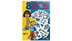 MALINOS 301002 Blanco Plantilla de Estarcido Plantilla - Plantilla de Letras (Plantilla de Estarcido, Niños, Blanco, 4 año(s), 8 Pieza(s))