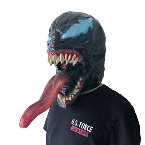 JTWJ Halloween Horror Maske Scary Alien Lange Zunge Venom ()