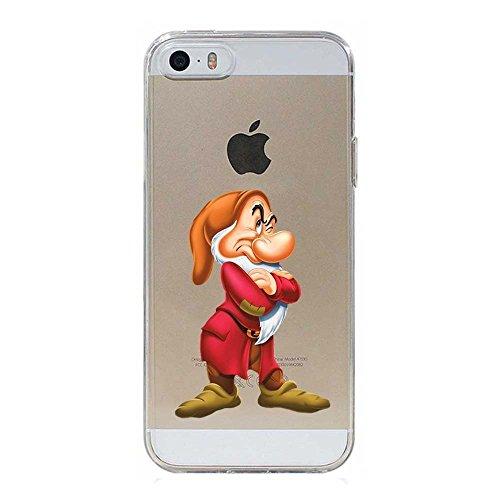 Blitz® VESPA Schutz Hülle Transparent TPU Cartoon Comic iPhone Pluto Hund iPhone 7 Grummel 7 Zwerge