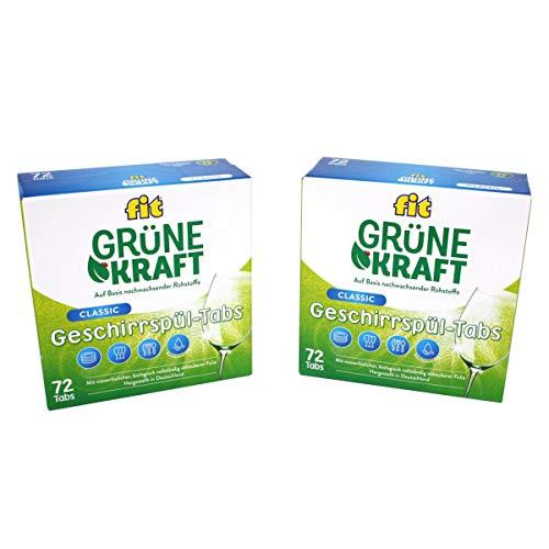 FIT Grüne Kraft Classic 144 Tabs Spülmaschinentabs Geschirrspültabs