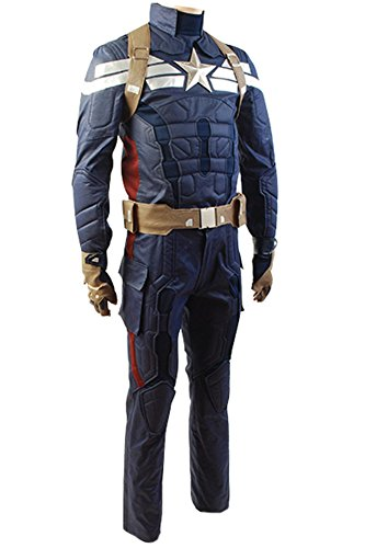 Gogam Captain America 2 The Winter Soldier Steve Rogers Uniform Outfit Cosplay Kostüm XL Herren (Winter Soldier Kostüm Für Erwachsene)
