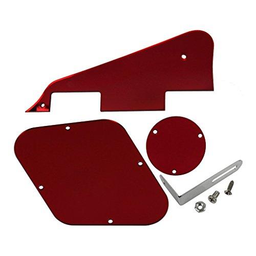 ikn-red-mirror-lp-pickguard-piastra-interruttore-posteriore-piastra-cavita-copre-con-chrome-staffa-p