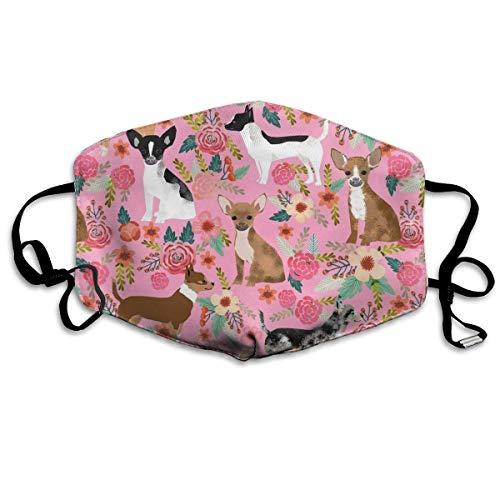 Masken, Masken für Erwachsene,Face Mask Reusable, Warm Windproof Mouth Mask, Chihuahua Dog Cute Pink Anti-Dust Cotton Mask,Unisex Face Mouth Mask for Kids Teens Men Women