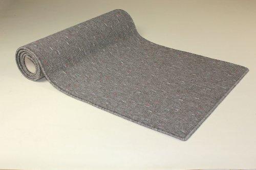 Teppichläufer Maya grau Teppich Brücke Läufer Flur Meterware 80 cm breit robust und trendy 80x500 cm