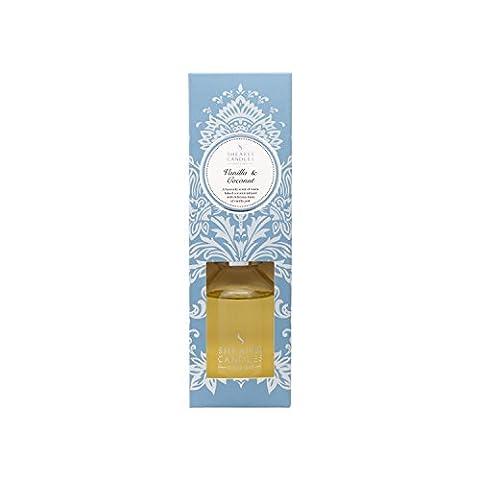 Shearer Candles SD0521 Diffuseur de parfum Spring Couture senteur vanille et noix de coco Bouteille en verre transparent 100 ml et bâton de roseau