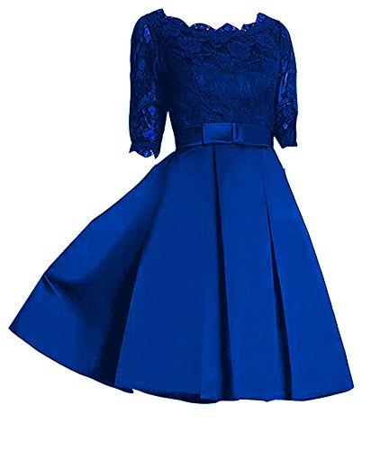 Emmani da donna LA Custodia in raso pizzo damigella d' onore abiti Royal Blue