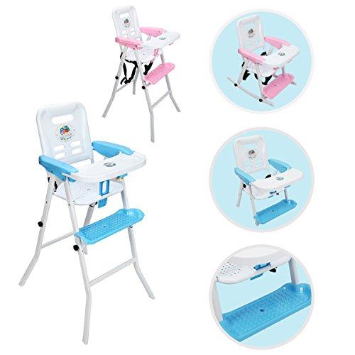COSTWAY 4 IN 1 Kinderhochstuhl Hochstuhl Kombihochstuhl Schaukelstuhl Treppenhochstuhl Babyhochstuhl (Blau)