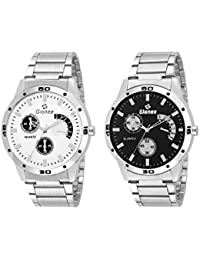 Gionee MRT-0144 Stainless Steel Analog Wrist Watch Casual Watch Combo Pack - For Mens (Pack Of 2) - Best Gift...