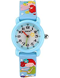 ELEOPTION 3D Cute Cartoon Quartz Watch Wristwatches With Silicone Band Time Teacher For Little Girls Boy Kids...