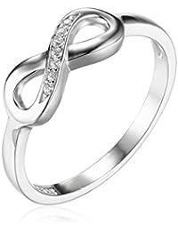 JewelryPalace Anillo en forma Infinito con Circonita en plata de ley 925