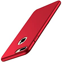 iPhone Caso, [Shock-Absorción] [Anti-Arañazos] Ultra Slim Duro Carcasa Funda Bumper Case Cover para iPhone 6/6S - Rojo