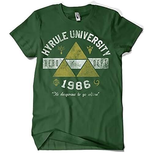 dia del orgullo friki 682-Camiseta Hyrule Univeristy (Arinesart) (S,Verde Botella)