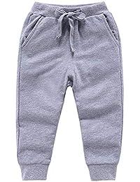 NAVY BLUE Boys Girls  Plain Jogging Bottoms Kids School Fleece TROUSER 3-10 YRS