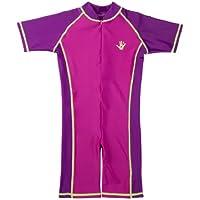 Ultrakidz Badeanzug - Traje de una pieza para competición de niña, color blanco (pink), talla 104