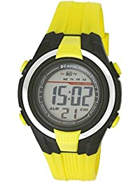 Ravel R Digi 7 j - Reloj infantil, correa de plástico color amarillo