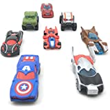 SUPER TOY Die CAST Metal Play Set - Perfect Toy Set For Kids Super Hero Die-CAST Metal 8 Cars Set