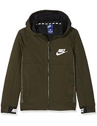 Nike B NSW Hoodie FZ AV15 Sudadera, Niños, Gris (Sequoia/Black/
