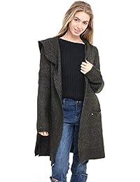 Ladies New Cuddly Cozy soft warm Hoody Stylish longer cut Cardigan Winter Jumper