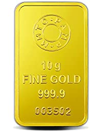MMTC-PAMP Lotus 24k (999.9) 10 gm Gold Bar