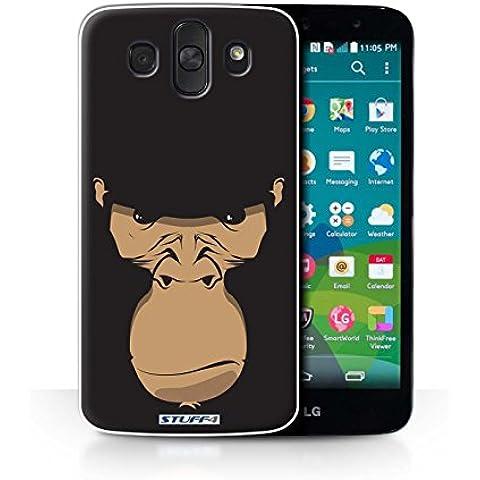 STUFF4/telefono/piel cubierta LGAKA/caras animales/colección gorila