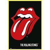 Rolling Stones Poster und Kunststoff-Rahmen - Zunge, Logo (91 x 61cm)