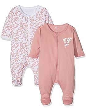 NAME IT Baby-Mädchen Schlafstrampler, 2er Pack