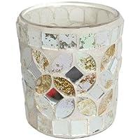 Village Candle panna e oro mosaico portacandela