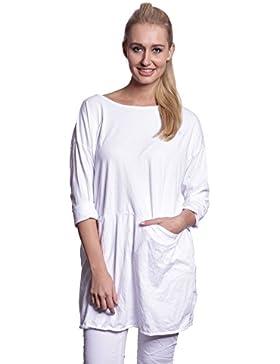 [Patrocinado]Abbino IG001 Camisas Blusas Tops para Mujeres - Hecho en ITALIA - Colores Variados - Entretiempo Otoño Invierno...
