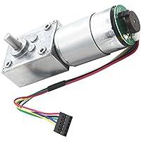 MagiDeal Réducteur à Engrenages Couple Élevé Turbo Moteur à Courant Continu Avec Codeur Bricolage Accessoires Électrique - 24V 80rpm