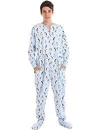 792c849aec51dd Funzee Zooland Erwachsenenstrampler Schlafoverall Pyjama Onesie Schlafanzug  Jumpsuit mit Füßen ...
