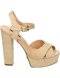 d277d2b0ad9d Damen Riemchen Abend Sandaletten High Heels Pumps Slingbacks Velours Peep  Toes Party Schuhe Bequem 07
