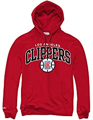 Mitchell & Ness Los Angeles Clippers équipe Arch NBA Sweat-shirt à capuche rouge