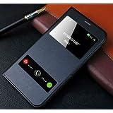 ELICA Window Premium Flip Cover for Samsung Galaxy E7 SM-E700H BLACK