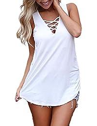 LILICAT® Camisetas Sin Mangas Verano para Mujer, Camiseta sin Mangas de Tirantes Sexy Verano