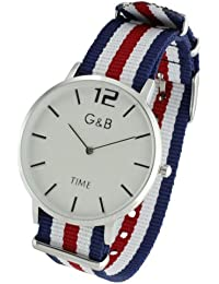 Set G&B reloj+ 4 correas textil RGB 43603