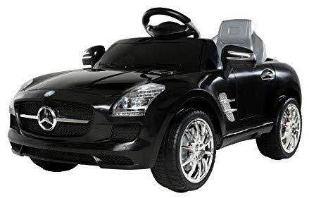 *Kinder Elektroauto Mercedes Lizenziert SLS AMG Original Lizenz Kinderauto Kinderfahrzeug Elektro Spielzeug für Kinder (Schwarz)*